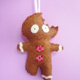 Luulla - Gingerbread Man ornament, funny Christmas ornaments