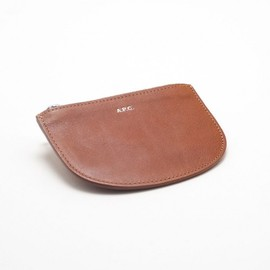 A.P.C. - Leather Coin Pouch in Caramel