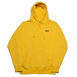917 - Area Code Pullover Hoodie (Yellow)