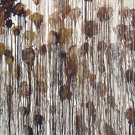 Cy Twombly - Untitled No. 5, (Winter Pictures), 2004. acrylic on wood