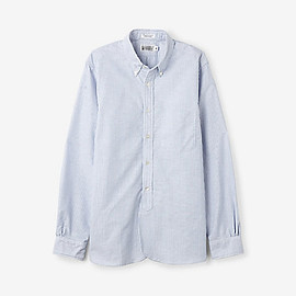 Engineered Garments - 19TH CENTURY BLUE CANDY STRIPE BUTTON DOWN
