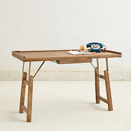 Anthropologie - Handcarved Contractor Table
