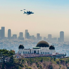 Endeavour over Griffith Observatory