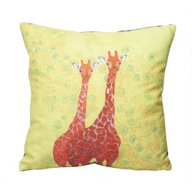 Fujiyoshi Brother's - Happy Animals Cushion Two Red Giraffes
