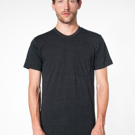 American Apparel - tri-blend pocket T-shirt