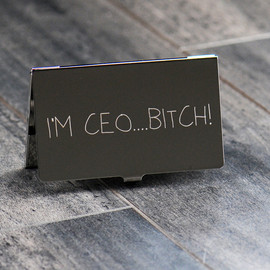 Card Case  - I'm CEO….Bitch!