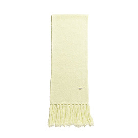 AURALEE - Alpaca Wool Super Light Knit Stole-Light Yellow