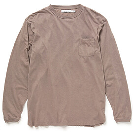 nonnative - DWELLER L/S TEE C/W JERSEY OVERDYED