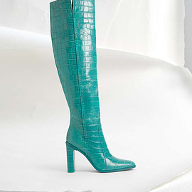 Max Mara - Crocodile-print leather boots