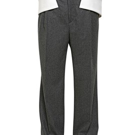Givenchy - Wide Leg Wool Flannel Trousers