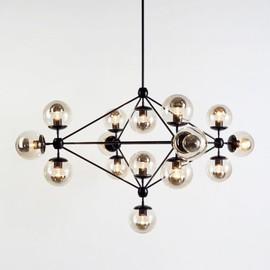 ROLL & HILL - Modo Chandelier, 4 Sided, 15 Globes