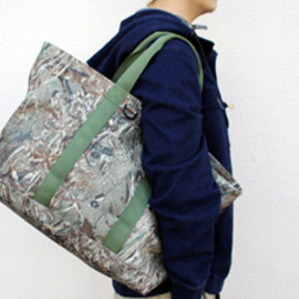 "L.L.Bean - L.L.Bean Hunting ""Hunters Tote Zip Top""mossy oak duck blind/L.L.ビーンハンターズジップトート"