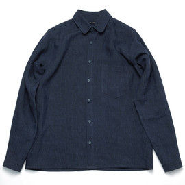 FRANK LEDER - DARK BLUE LINEN SHIRT