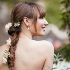 10 Wedding Hairstyle Ideas You Haven't Seen Before, Courtesy Of Pinterest: Save the Date: Weddings: glamour.com