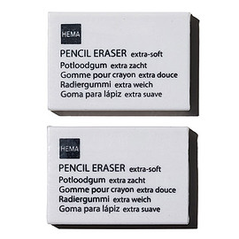 HEMA - Pencil eraser x 2