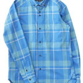 bal - Lawn Plaid BD Shirt (blue)