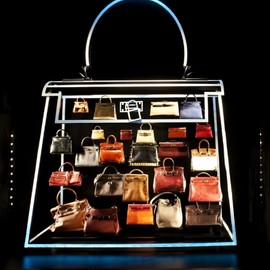 "HERMES - Neon Kelly bag ""created by Alexandra Plat for HERMES 175 YEAR ANNIVERSARY"""