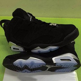 NIKE - NIKE AIR JORDAN 6 LOW BLACK/METALLIC SILVER-WHITE