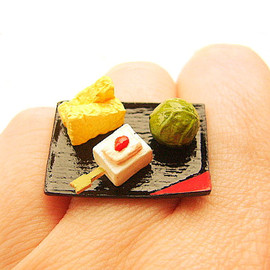 SouZouCreations - Traditional Japanese Food Ring   Miniature Food Jewelry