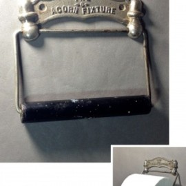 "アメリカン・アンティーク - 1884 N.Y.""THE ACORN FIXTURE"" Toilet Paper Holder"