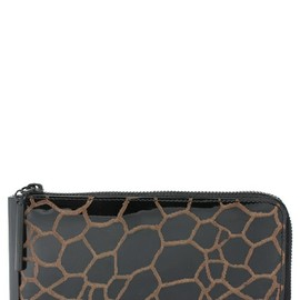 3.1 Phillip Lim - 3.1 Phillip Lim WOMEN continental zip_giraffe print patent leather(財布)|ブラック系その他