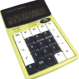 CRAFTY - CALCULATOR TEN CREAM/BLUE HFT059