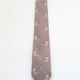 Equeglitz - Equeglitz Brown owl print cotton tie