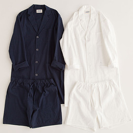"NOWHAW - ""day long"" pajama #navy / #white パジャマ/シアサッカー"