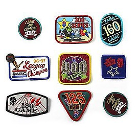 VINTAGE - Vintage 1990s 90s Bowling League Sportswear Patches (Set of 9)