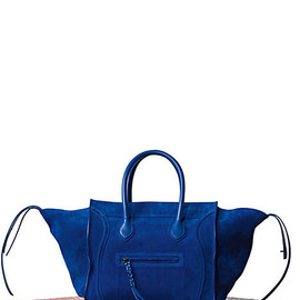 CELINE - LUGGAGE PHANTOM IN SUEDE ROYAL BLUE 169953LCB.07RB