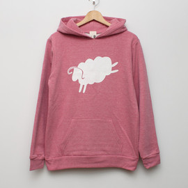 cup and cone - Cycle Sheep Heather Hoodie Pink