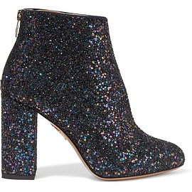 Charlotte Olympia - Alba glittered canvas ankle boots