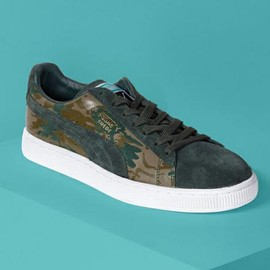 PUMA - PUMA SUEDE CAMO DEEP FOREST/DARK GREEN/GOLD