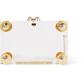 Charlotte Olympia - Handroid embellished Perspex clutch
