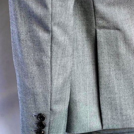 THOM BROWNE - light grey herringbone suit