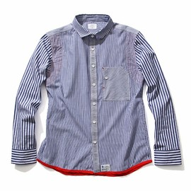 JUN WATANABE - UNEVEN PIPING STRIPE SHIRTS