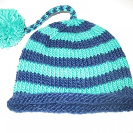 Luulla - Cute Baby Hat In Pure Natural Wool