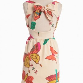Judith March - Butterfly Kites Bow-Back Dress