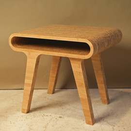 PlywoodOffice - Stripes End Table