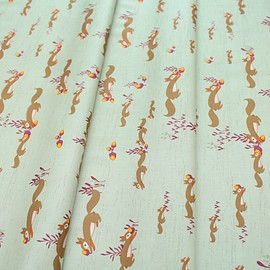 Art Gallery Fabrics - Autumn Vibes Squirrels At Play