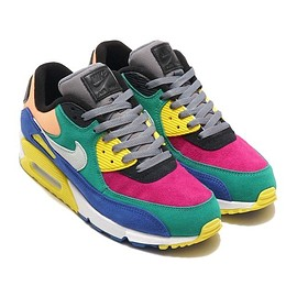NIKE - NIKE AIR MAX 90 VIOTECH GREEN/BARELY GREY-GAME ROYAL