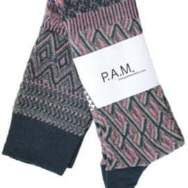 P.A.M. - Toastmaster Knee Length Socks (denim/pink)