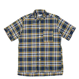 ENGINEERED GARMENTS - Lafayette Shirt-Madras Plaid-Nvy×Grn×Ylw