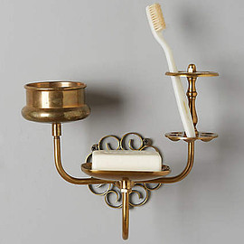 Anthropologie - Brass Trinket Bath Caddy