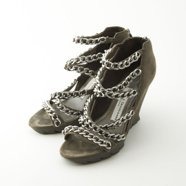 CAMILLA SKOVGAARD - Silver Chain Wedge Sole Sandals