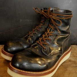 RED WING - customed logger boots: PT83 by BRASS