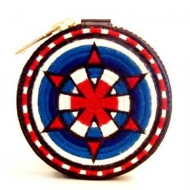 blackmeans - Embroidely Circle Pouch/Purse Black