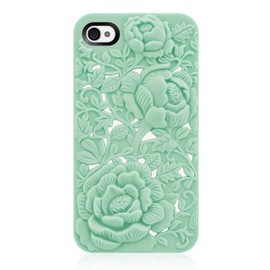 alanatt - Unique Design Rose Embossing Case for iPhone 4/4S