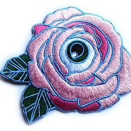 cultfictionpress - PINK: Flower of my Eye Iron-on Patch
