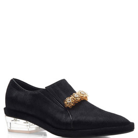 SIMONE ROCHA - Black Pony Hair Brogues
